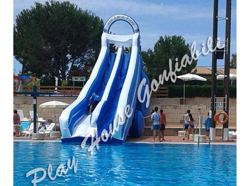 Gonfiabile sportivo pista per quad misure 10 x 6 h 2 40 - Scivolo gonfiabile per piscina ...
